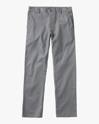 6 Boys WEEKDAY STRETCH straight fit PANT Grey BC301WDS RVCA