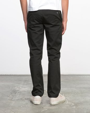3 Boys WEEKDAY STRETCH straight fit PANT Black BC301WDS RVCA