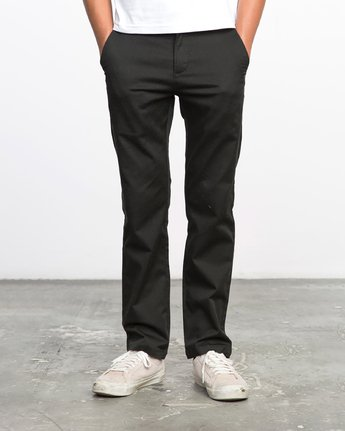 2 Boys WEEKDAY STRETCH straight fit PANT Black BC301WDS RVCA
