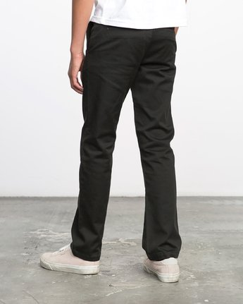 2 Boy's Weekday Stretch Pants Black BC301WDS RVCA
