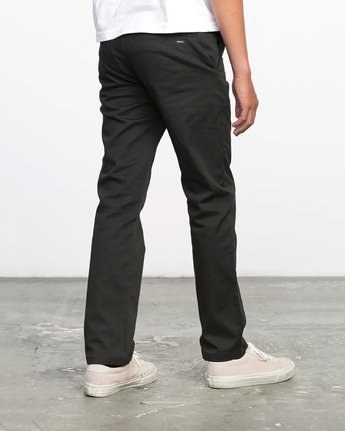 4 Boy's Weekday Stretch Pants Black BC301WDS RVCA