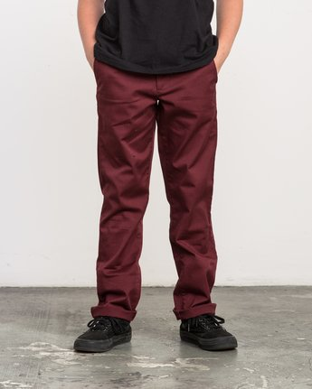 0 Boy's Weekday Stretch Pants Red BC301WDS RVCA
