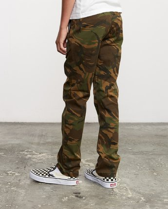 2 Boy's Weekday Stretch Pants Camo BC301WDS RVCA