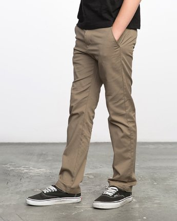 1 Boys WEEKDAY STRETCH straight fit PANT Grey BC301WDS RVCA