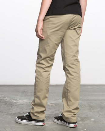 2 BOY'S WEEKDAY STRETCH straight fit PANT Beige BC301WDS RVCA