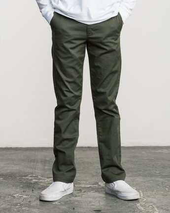 1 Boy's Weekday Stretch Pants Green BC301WDS RVCA