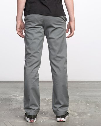 3 BOY'S WEEKDAY STRETCH straight fit PANT Grey BC301WDS RVCA