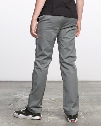 2 BOY'S WEEKDAY STRETCH straight fit PANT Grey BC301WDS RVCA
