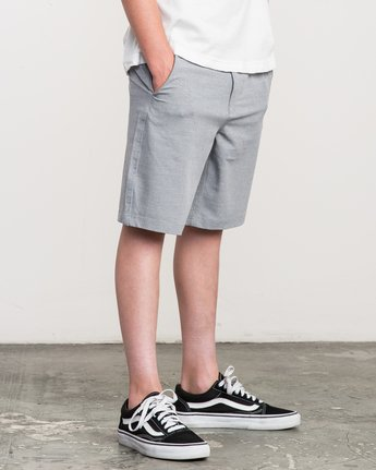 4 Boy's That'll Walk Oxford Short  BK202TWO RVCA