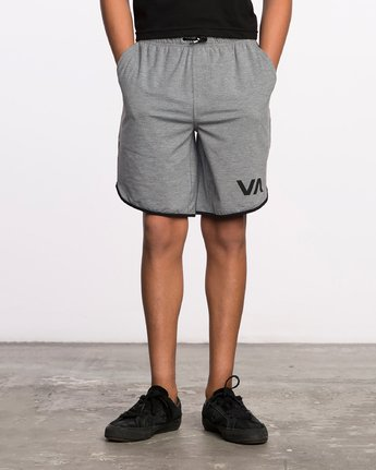 1 Boy's VA Sport Short II Grey BL201SPO RVCA