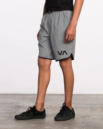2 Boy's VA Sport Short II Grey BL201SPO RVCA