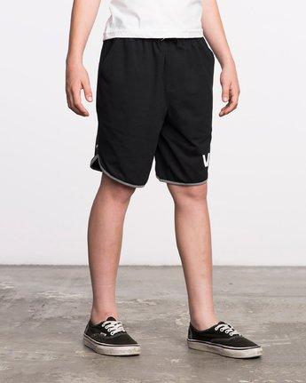 6 Boy's VA Sport Short II Black BL201SPO RVCA