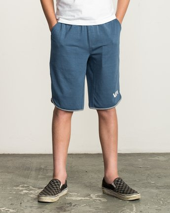2 Boy's VA Sport Short II Blue BL201SPO RVCA