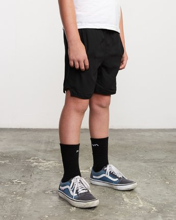 "6 Boy's Yogger 3 15"" Short Black BL204YGR RVCA"