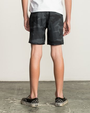 "4 Boy's Yogger 3 15"" Short Brown BL204YGR RVCA"