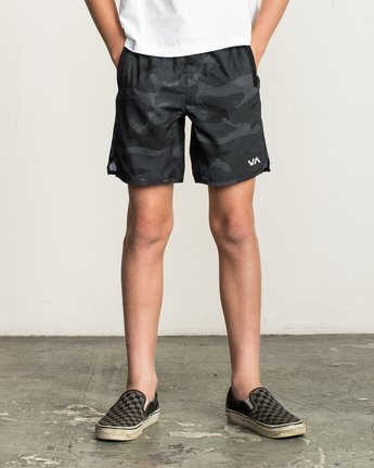 "1 Boy's Yogger 3 15"" Short Brown BL204YGR RVCA"