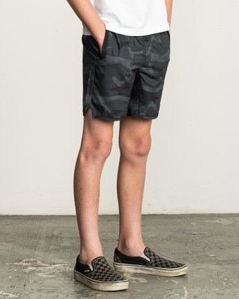 "6 Boy's Yogger 3 15"" Short Brown BL204YGR RVCA"