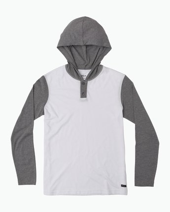 0 Boy's Pick Up Knit Hoodie White BL904PUH RVCA