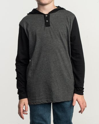 1 Boys Pick Up Knit Hoodie Grey BL904PUH RVCA