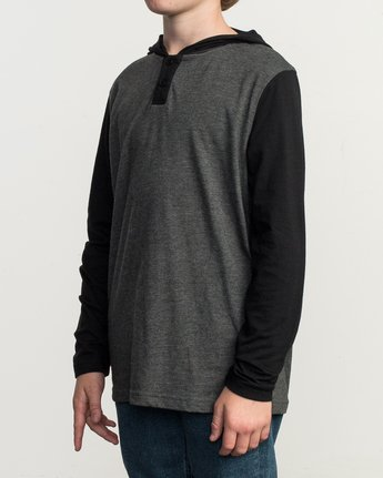 2 Boys Pick Up Knit Hoodie Grey BL904PUH RVCA