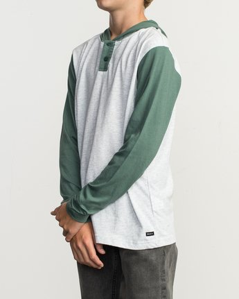 2 Boy's Pick Up Knit Hoodie Green BL904PUH RVCA