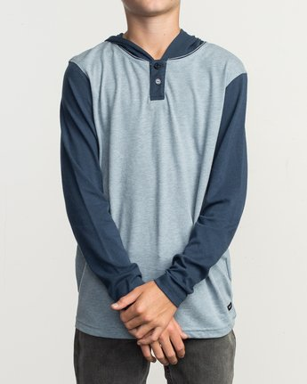 1 Boy's Pick Up Knit Hoodie Blue BL904PUH RVCA