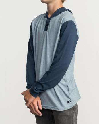 2 Boy's Pick Up Knit Hoodie Blue BL904PUH RVCA