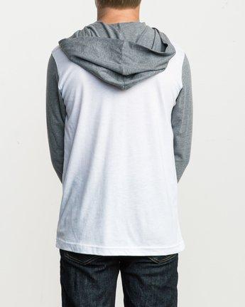 3 Boy's Pick Up Knit Hoodie White BL904PUH RVCA