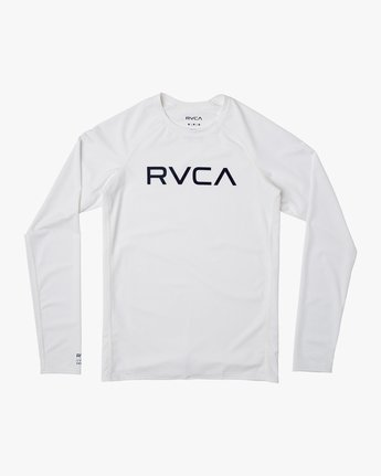 1 Boys RVCA Long Sleeve Rashguard White BR11TRLR RVCA