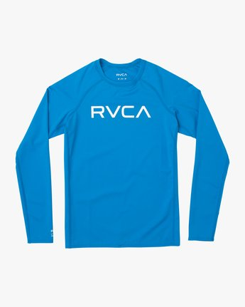 1 Boys RVCA Long Sleeve Rashguard Blue BR11TRLR RVCA