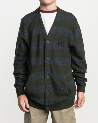 0 Boy's Cali Button-Up Cardigan Green BV40SRCC RVCA