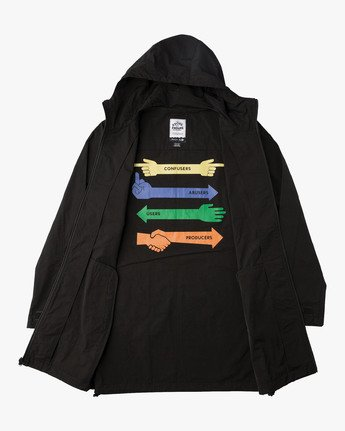 1 ESPO HOODED TRENCH  F1JKRERVF7 RVCA