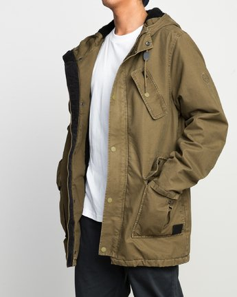 2 GROUND CONTROL PARKA  F1JKRJRVF7 RVCA
