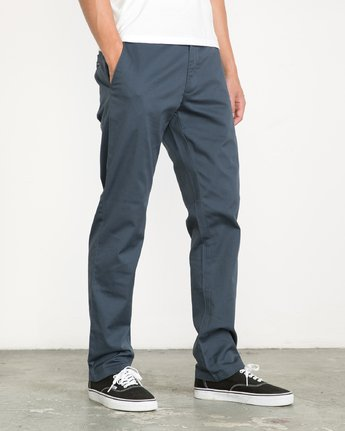 3 Weekend Stretch  - Pantaloni da Uomo Blue F1PTRARVF7 RVCA