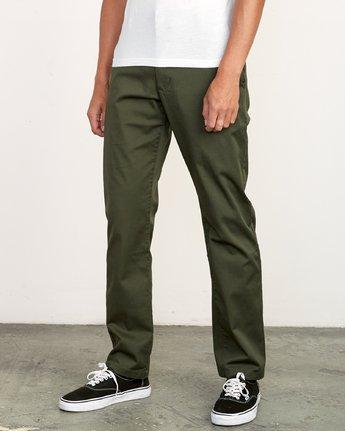 1 Weekend Stretch  - Pantalones para Hombre Verde F1PTRARVF7 RVCA