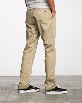 3 Weekend Stretch  - Trousers Green F1PTRARVF7 RVCA