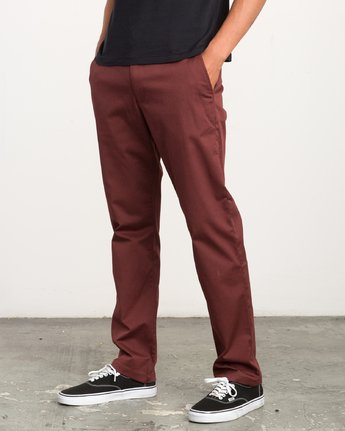 1 Weekend Stretch  - Trousers Red F1PTRARVF7 RVCA