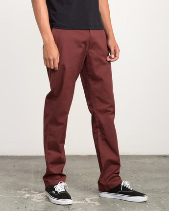 5 Weekend Stretch  - Trousers Red F1PTRARVF7 RVCA