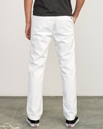2 Weekend Stretch  - Pantalon pour Homme Blanc F1PTRARVF7 RVCA