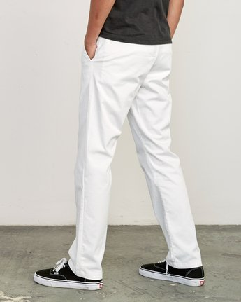 1 Weekend Stretch  - Pantalon pour Homme Blanc F1PTRARVF7 RVCA
