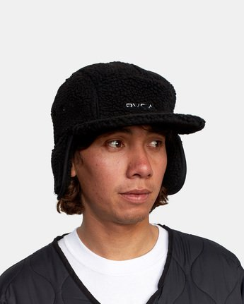 3 BOA FLEECE HOTH CAP Black GVYHA00100 RVCA