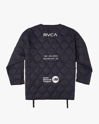 1 Linning Quilting Jacket Black GVYJK00100 RVCA
