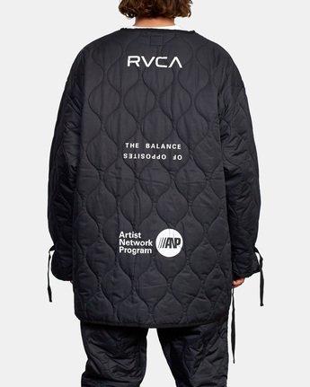 3 Linning Quilting Jacket Black GVYJK00100 RVCA