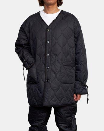 5 Linning Quilting Jacket Black GVYJK00100 RVCA