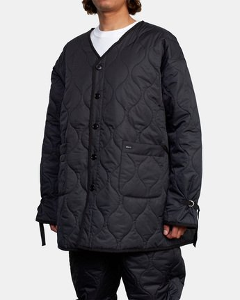 6 Linning Quilting Jacket Black GVYJK00100 RVCA