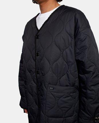 8 Linning Quilting Jacket Black GVYJK00100 RVCA