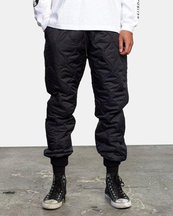 2 Quilting Swift Pant Black GVYNP00100 RVCA