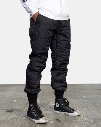 6 Quilting Swift Pant Black GVYNP00100 RVCA