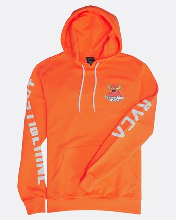 1 SMALL TOY MACHINE HOODIE Orange H1HOTBRVP8 RVCA