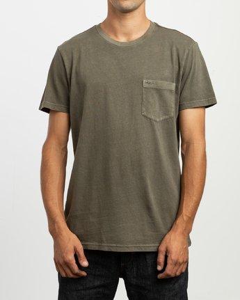 1 PTC 2 Pigment - T-Shirt pour Homme Vert H1KTRCRVP8 RVCA